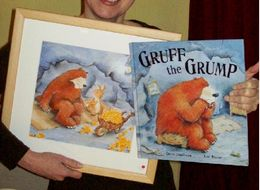 Exhibiting a painting from 'Gruff The Grump'