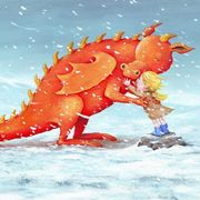 Dragon in snow