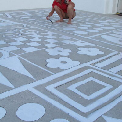 Outdoor rugs painting