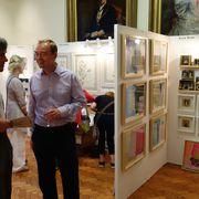 Tim Farron talking to Edward Acland