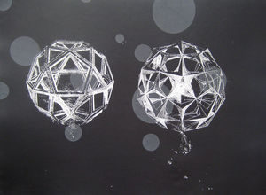Two Spheres with Translucent Discs