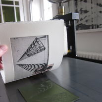 Printmaking at Calder press