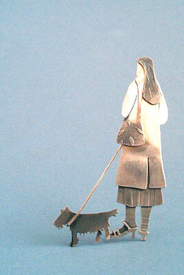 woman with scottie dog