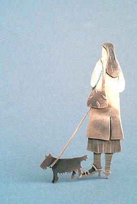 woman with scottie dog