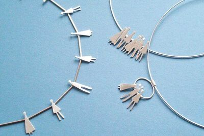 connected people necklace and pendants