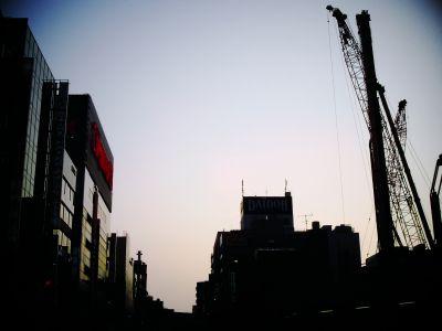 sunset of Akihabara
