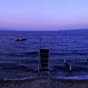 a chute of lake Leman