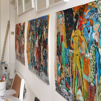 Studio (mixed media on paper works) sept 2013
