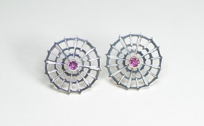 Pink Tourmaline earstuds