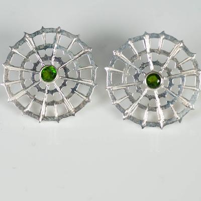 Chrome Diopside earstuds