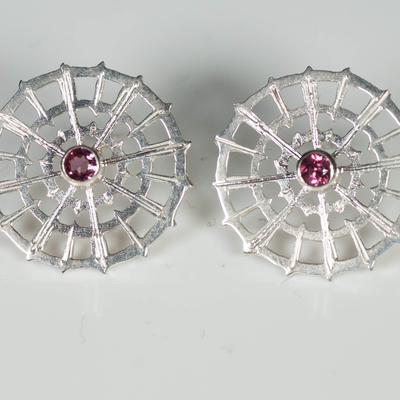 Rhodalite Garnet Earstuds