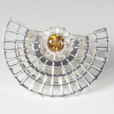 Citrine spinner ring