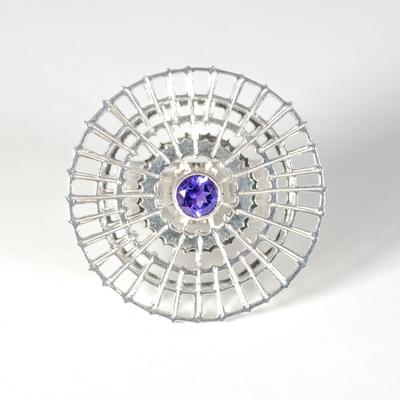 Amethyst spinner ring