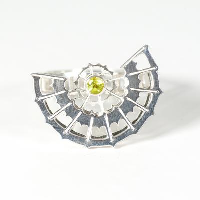 Peridot spinner ring