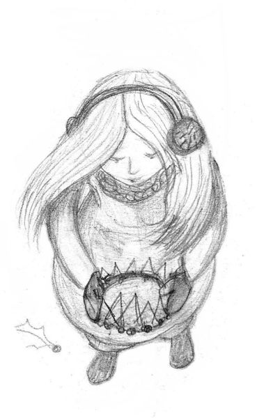 Girl look down pencil for How to draw a girl looking down