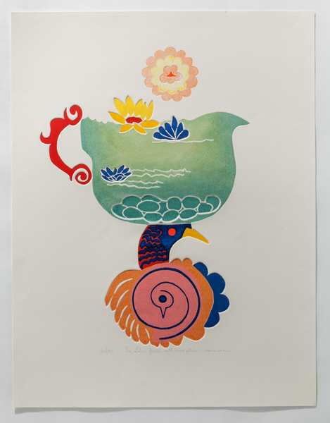 The Lotus Flower Of The 1000 Petals Colour Etching