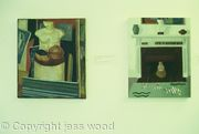 still life in studio x 2 (first oil paintings 1984)