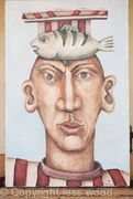 football supporter and fish