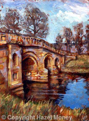 Chatsworth bridge in winter