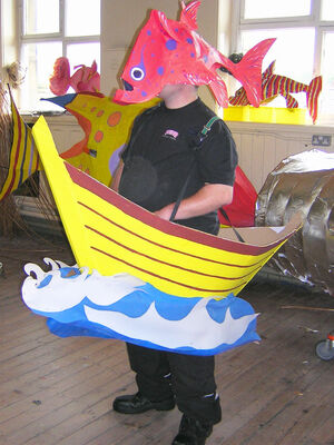 walking boat  fish mask