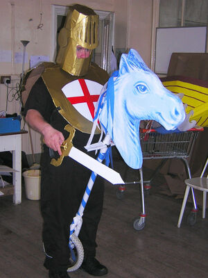 St George on hobby horse