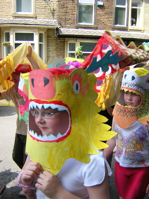 chinese dragon masks workshop