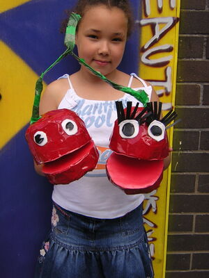 fruit  veg puppets workshop