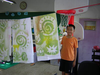 Taiwan school fabric painting workshop