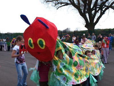 Hungry Caterpillar at Foredyke Primary carnival