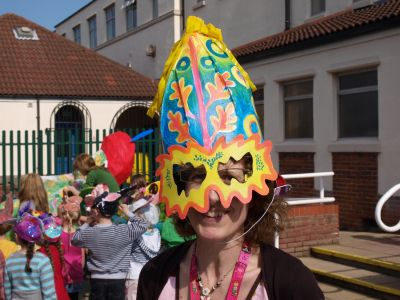 April Fools mask - Foredyke Primary carnival