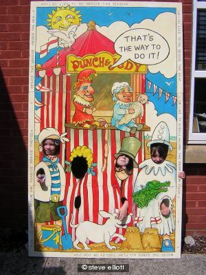 punch  judy postcard