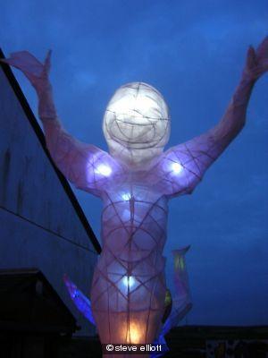 happy human lantern