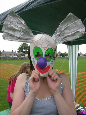 clown mask workshop