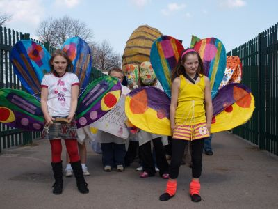 butterflies at Foredyke primary