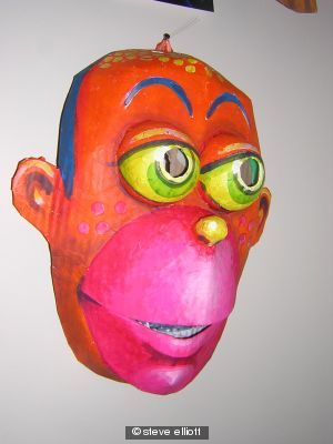 red man mask