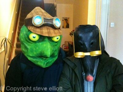 Toad & Mole masks