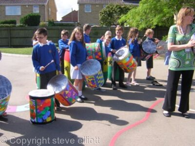 Drum band at westfield primary