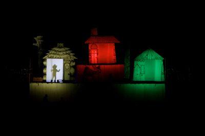 Bonfire stage set, Goole 2011