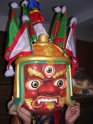 Buddhist deity mask, Sikkim