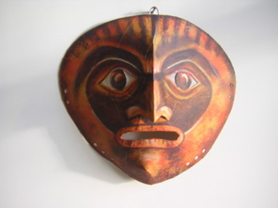 African sculpture style mask - shock face