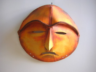 African sculpture style mask - worry face