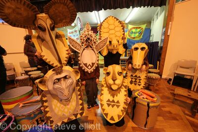 African Arts Day totems
