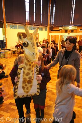 African Arts Day Giraffe totem