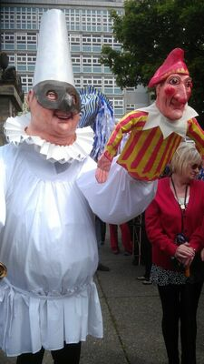 Pulcinella and Mr Punch