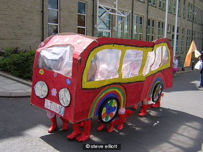 the Rainbows bus