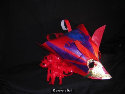 red bird mask