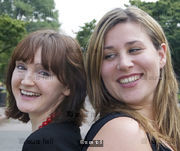 Lisa Barker and Rebecca Weymouth, playwrites