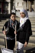 Muslim protestors, Trafalgar Square