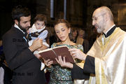 The Christening of George Panayides at St Sophia's Greek Orthodox Cathedral, Bayswater