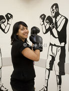BBC World Service Producer Nina Robinson photographed at The Pedro Club, Hackney for the BBC